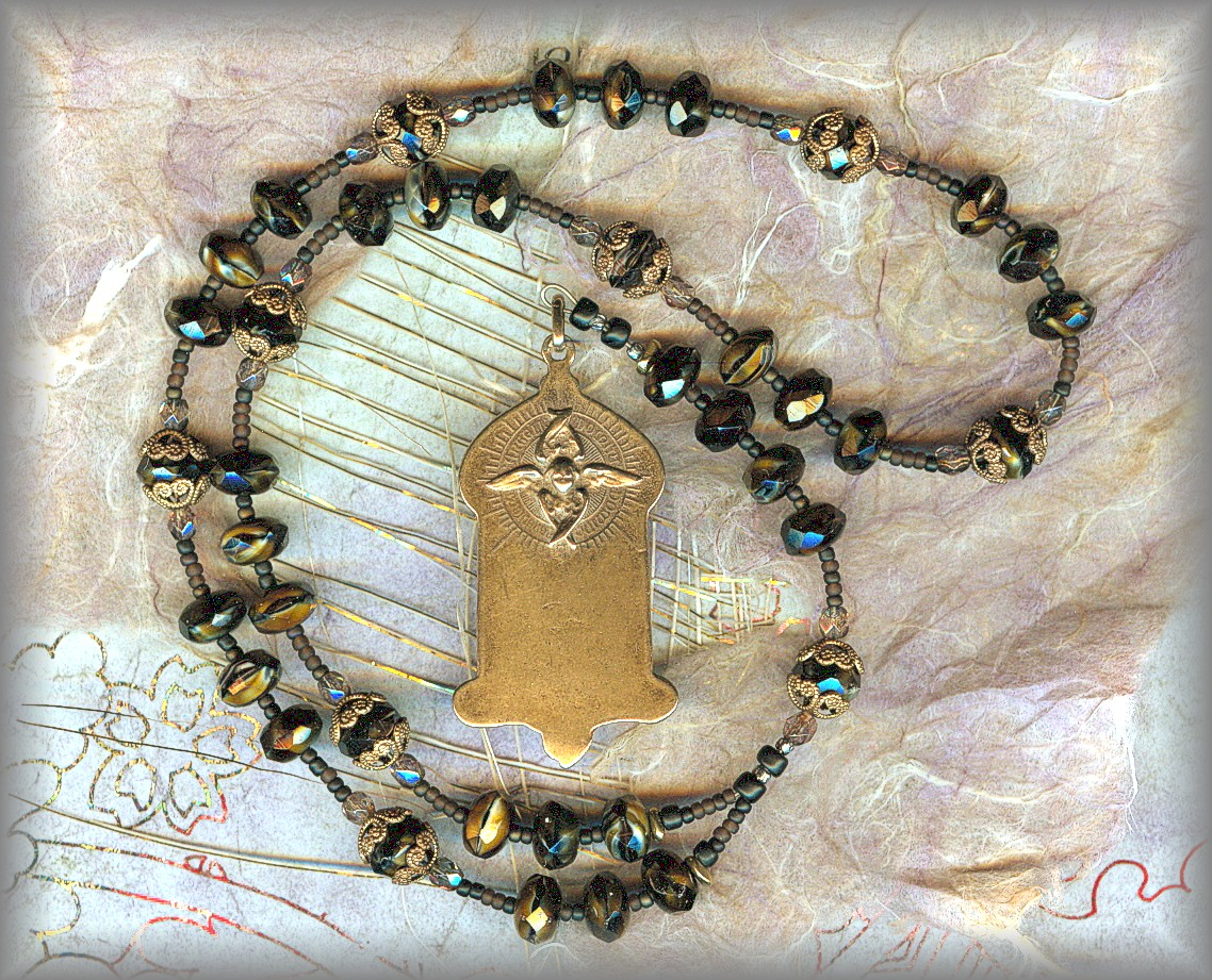 GUARDIAN ANGEL CHAPLET: CGAD.51001 (tigereye brown)