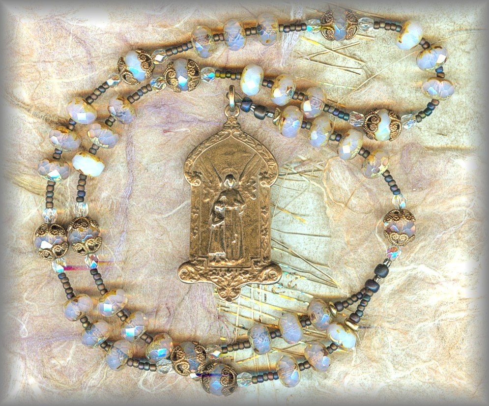 GUARDIAN ANGEL CHAPLET: CGAD.51002 (milky white var)