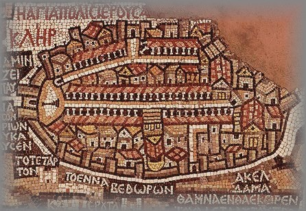 MADABA MAP OF JERUSALEM - 6c