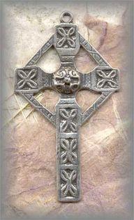 ECRO.500 - CELTIC CROSS - 1800s - antique, Ireland/19c - (2.5 in.)