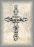 ECRX.282 - OPEN ROPEWORK (crucifix) - vintage, Europe/umknown - (1.5 in.)