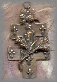 ECRO.476 - STe JOAN CROSS - antique, France/unknown - (2.25 in.)