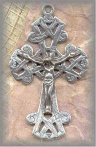 ECRX.436 - CELTIC CRUCIFIX  - Ireland, antique/19c - (2.25 in.)