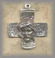 IT.CRX.5 - FACE of JESUS - vintage, Italy/mid 20c - (1.25 in.)