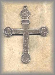 LA.CRO.03 - MISSION CROSS - antique, Oaxaca/1800s - (2.25 in.)
