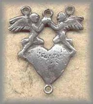 LA.RC.3 - ANGELS with HEART - antique, Oaxaca/19c- (1.1 in.)