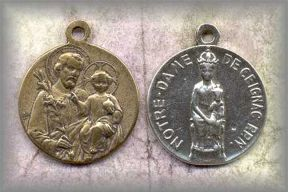 M.SJO.01 - ST JOSEPH  (Our Lady of Ceignac) - antique,France/19c - (1 in.)