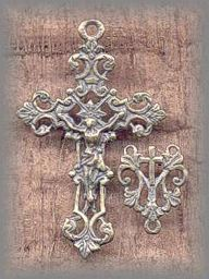 EQ.215/216 - FILIGREE ROSARY SET - France/1800s - (1.25 + in.)