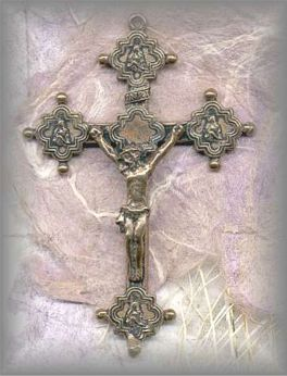 CRX.36 - GOTHIC CRUCIFIX - vintage, Latin America/unknown - (2 in.)