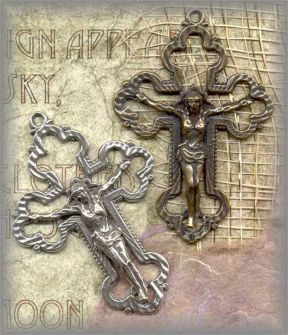 SS.CRX.016 - OPENWORK CRUCIFIX - vintage, unknown - (2 in.)
