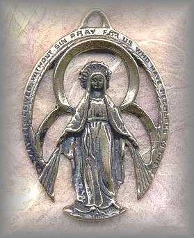 SS.MM.001 -  MIRACULOUS  MEDAL - antique, Latin America/unknown - (1.5 in.)