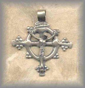 ECRX.354 - CRUCIFORM with RING - antique, Ethiopia/19c - (1.75 in.)