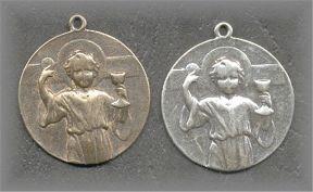 EM.428 - CHRIST CHILD HOLDING EUCHARIST - antique, Dated 22.05.32 - (1 in.)