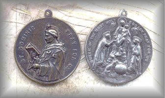SS.MSD.001 - ST DOMINIC , OL of ROSARY - vintage,  unknown - (1.5 in.)