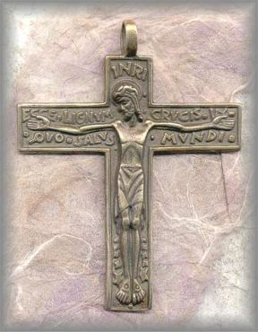 CRX.53 - ECCE LIGNUM CRUCIS - France / early 1900s  - (2.5 in.)
