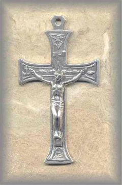 + CRX.64 - OLD RELIC  CRUCIFIX - antique, Europe/19c - (2.25 in.)