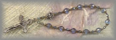 + 20%-CRBW.2430 - SAINT MARY MAJOR BASILICA - blue chaplet - (8 mm - 6.75 in.)