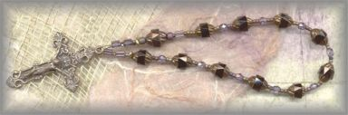 + 20%-CRBW.2440 - ST JOHN LATERAN  II -  jet  chaplet - (8 mm. - 7 in.)