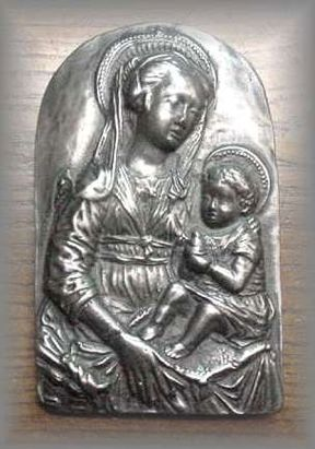 WG.13 - MADONNA  & CHILD (small) Renaissance Style - (5 in. H x 3 in. W)