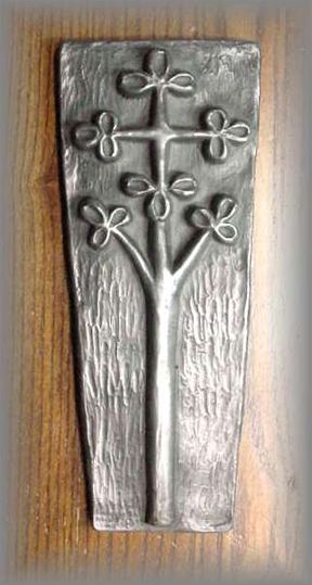 ~ WG.90 - TREE CROSS -two ancient symbols - (8 in.)